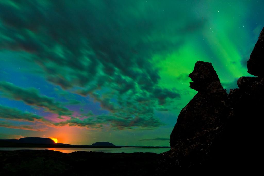 Bardarbunga-Polarlicht (Island) © Roland Schweizer