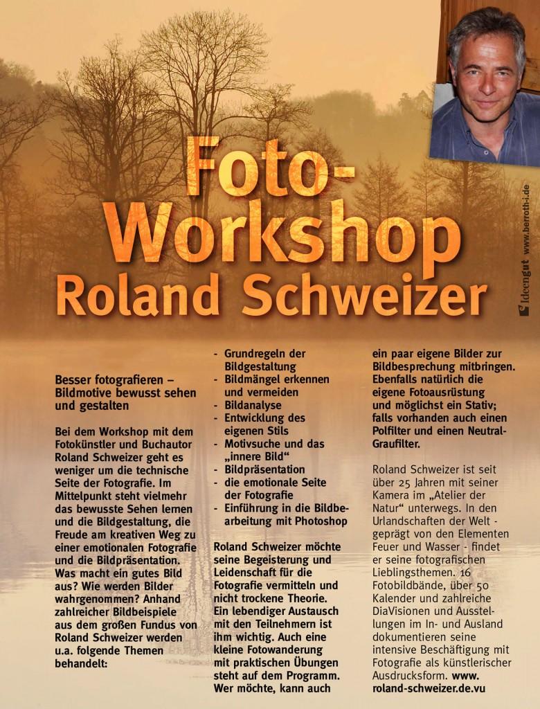 Fotoworkshops mit Roland Schweizer